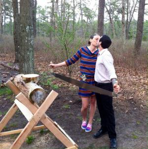 Karen, Bull, and a German Ceremonial Log Cutting
