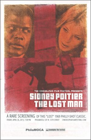 Rare screening of Sidney Poitier in The Lost Man | poster by Justin Miller / Haunt Love