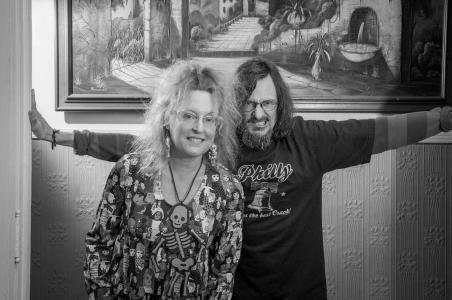 Portrait of Elizabeth and Allen Fiend of More Fiends – Photography by Karen Kirchhoff